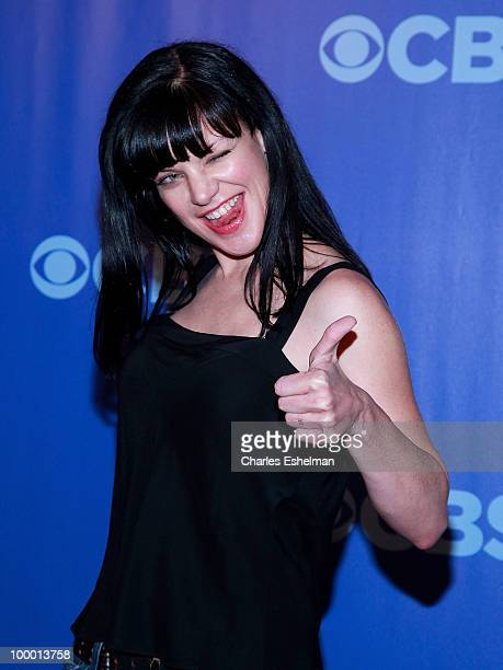 CBS's NCIS actress Pauley Perrette attends the 2010 CBS UpFront at Damrosch Park Lincoln Center on May 19 2010 in New York City