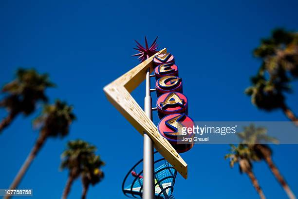 1960´s neon sign on fremont street - las vegas stock pictures, royalty-free photos & images