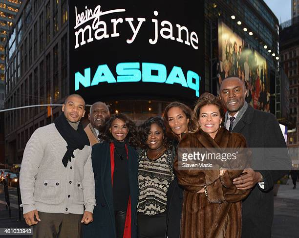 BET's Networks' Being Mary Jane cast members Aaron Spears Richard Roundtree Margaret Avery Raven Goodwin Mara Brock Akil Lisa Vidal and Richard...