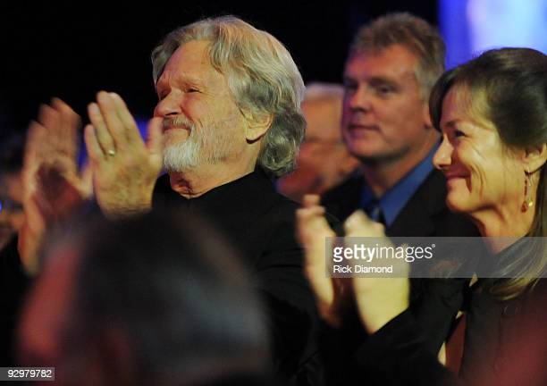 BMI's new Icon Kris Kristofferson and Wife Lisa Meyers during the 57th Annual BMI Country Awards at BMI on November 10 2009 in Nashville Tennessee
