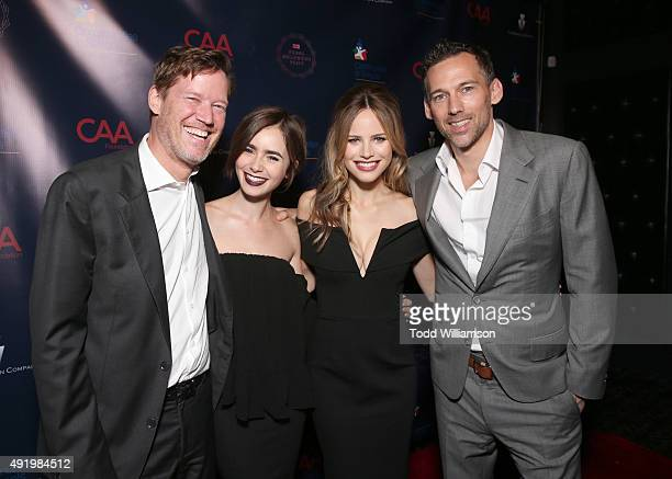 CAA's Nick Styne Halston Sage and Lily Collins and CAA's Joel Lubin attend CAA's Young Hollywood Party Benefiting Communities In Schools Of Los...