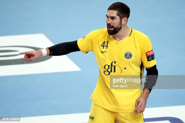 PSG's Nikola Karabatic during the Champions League match between Veszprem and Paris Saint Germain on November 18 2017 in Veszprem Hungary