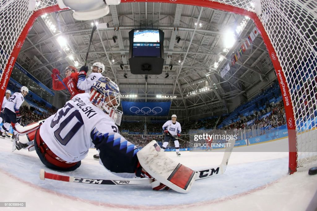 IHOCKEY-OLY-2018-PYEONGCHANG-USA-RUS : News Photo