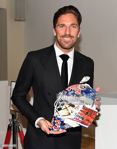 NHL's NY Ranger's goalkeeper Henrik Lundqvist attends an evening Behind The Mask with the Henrik Lundqvist Foundation at Helen Mills Event Space on...