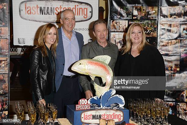 S of Fox Television Group Dana Walden and Gary Newman, actor/producer Tim Allen, and ABC Executive Vice President Vicki Dummer attend the 100th...
