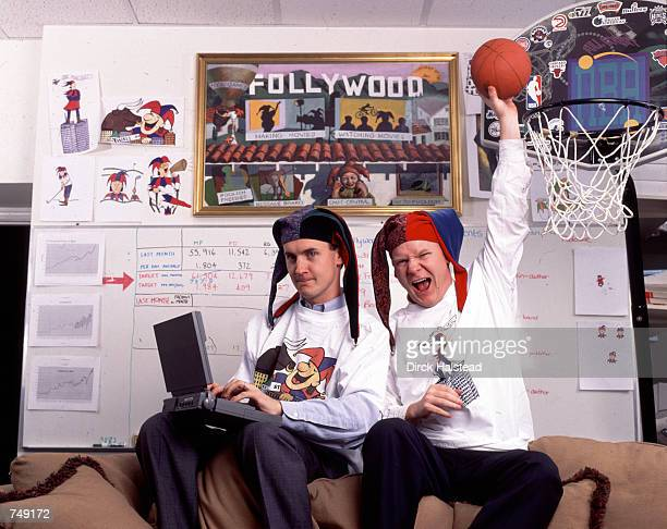 CEO's of Motley Fool Online Investment site David and Tom Gardner pose for a portrait January 15 1998