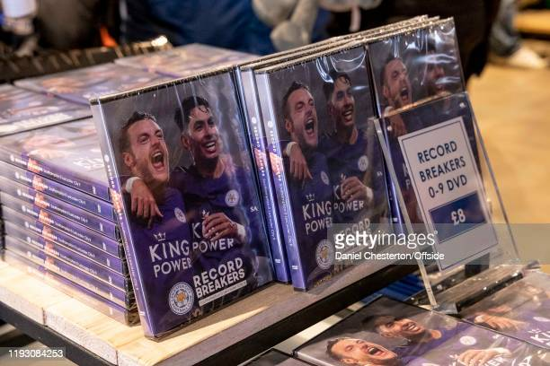 DVD's of the reverse fixture when Leicester beat Southampton 90 on sale in the club shop before the Premier League match between Leicester City and...