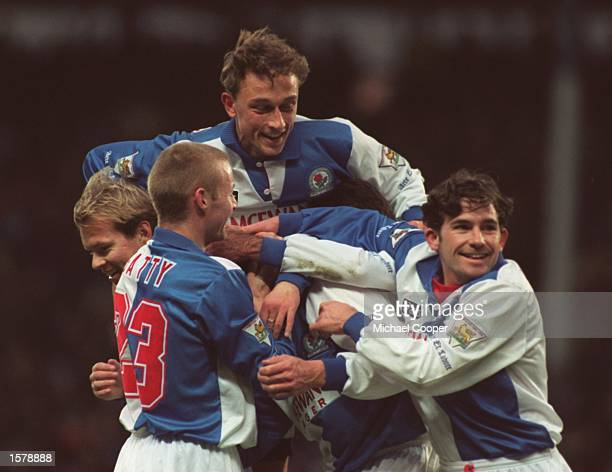 SHEARER's ONE HUNDREDTH GOAL FOR THE CLUB DURING THE PREMIER LEAGUE MATCH AGAINST SPURS AT EWOOD PARK BLACKBURN WON 21 Mandatory Credit Mike...