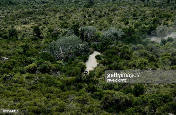 S Orlando Terranova of Agrentina competes during the Stage 10 of the Dakar 2013 between Cordoba and La Rioja, Argentina, on January 15, 2013. The...
