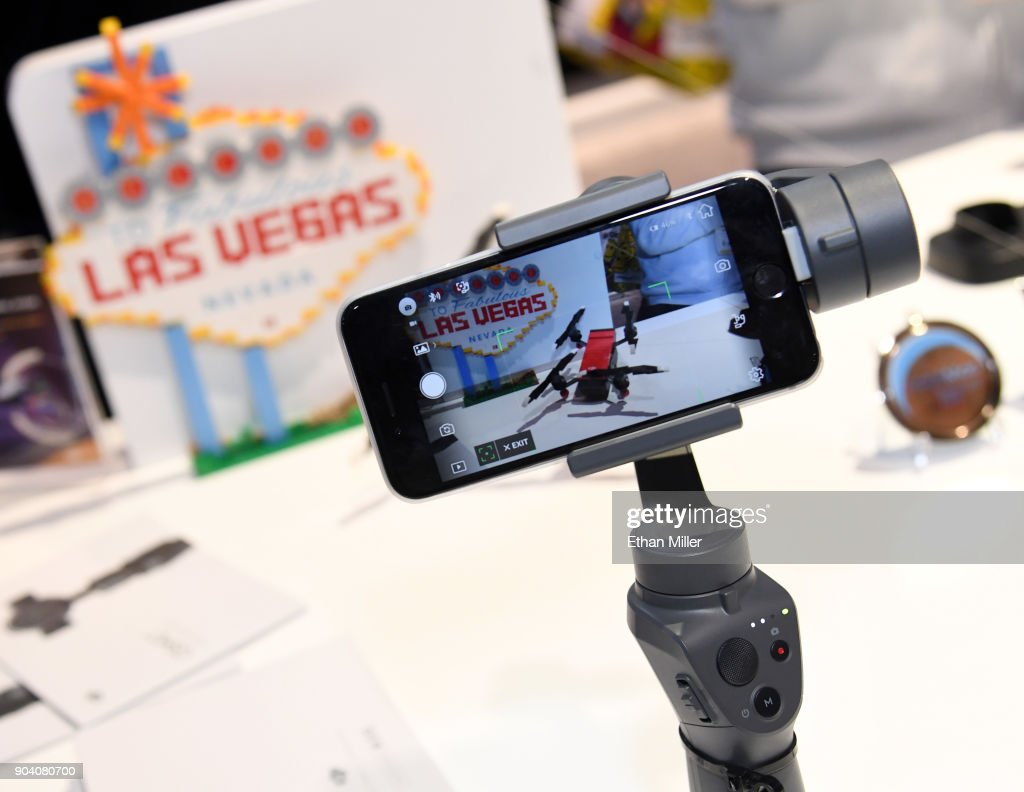Djis Osmo Mobile 2 Handheld Smartphone Gimbal Is Displayed At The Dji Latest Consumer Technology Products On Display Annual Ces In Las Vegas News Photo