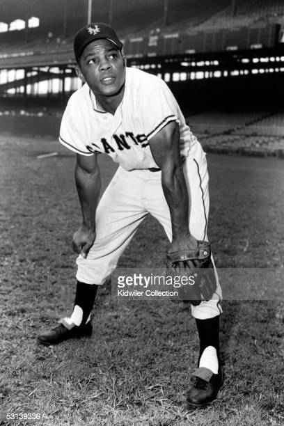 S: Outfielder Willie Mays, of the New York Giants, poses for a portrait prior to a game at the Polo Grounds in New York, New York.