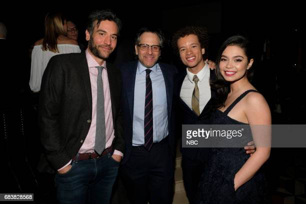 EVENTS NBC's Party at Del Posto Celebrating NBC's New Season Pictured Josh Radnor Jason Katims Damon J Gillespie Auli'i Cravalho Rise