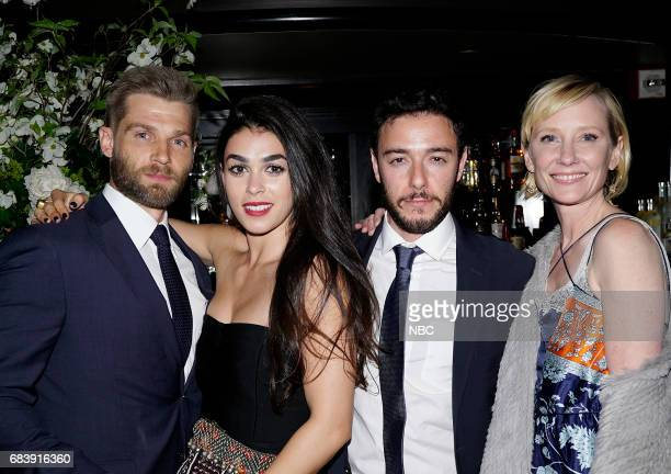 EVENTS NBC's Party at Del Posto Celebrating NBC's New Season Pictured Mike Vogel Natacha Karam Hadi Tabbal Anne Heche 'The Brave'