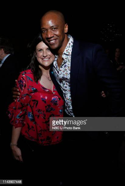 EVENTS NBC's Party at THE POOL Celebrating NBC's New Season Pictured Lisa Katz CoPresident Scripted Programming NBC Entertainment J August Richards...