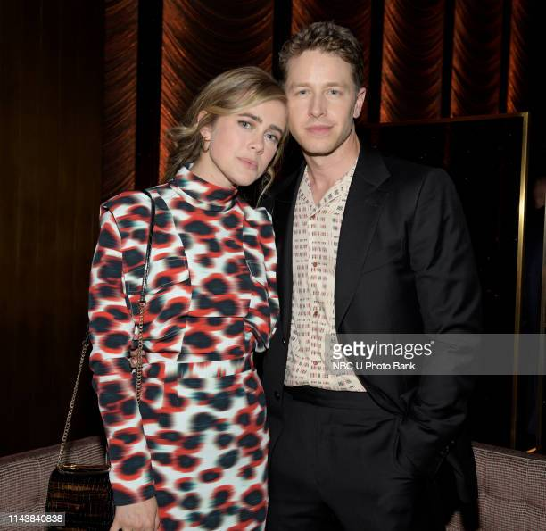 "S Party at THE POOL Celebrating NBC's New Season -- Pictured: Melissa Roxburgh, Josh Dallas, ""Manifest"" on NBC --"