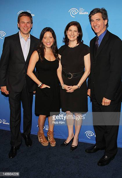 NY1's Pat Kiernan Jamie Shupak Roma Torre and Budd Mishkin attend the Time Warner Cable Media Cabletime Upfront at Yotel Hotel on June 7 2012 in New...