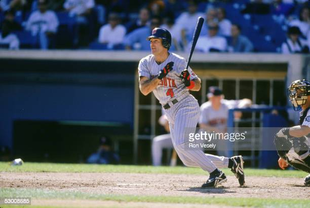 1990's Paul Molitor of the Minnesota Twins bats during a 1990's game Molitor played for the Twins from 199698