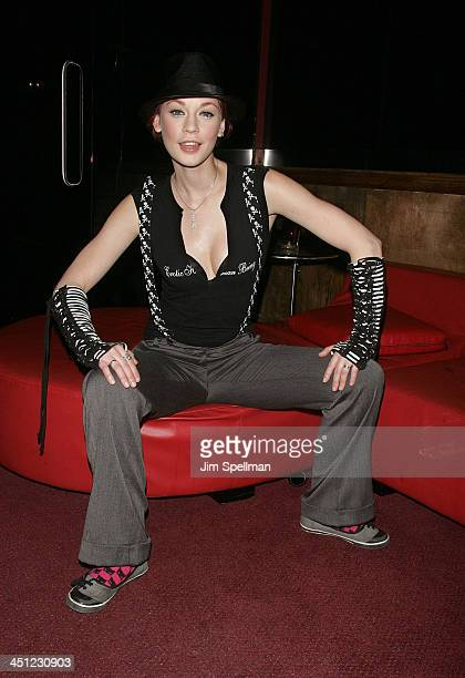 2008's Penthouse Pet of the Year runnerup Justine Joli attends the 2008 Penthouse Pet of the Year Erica Ellyson Private Dinner Party at Rick's...