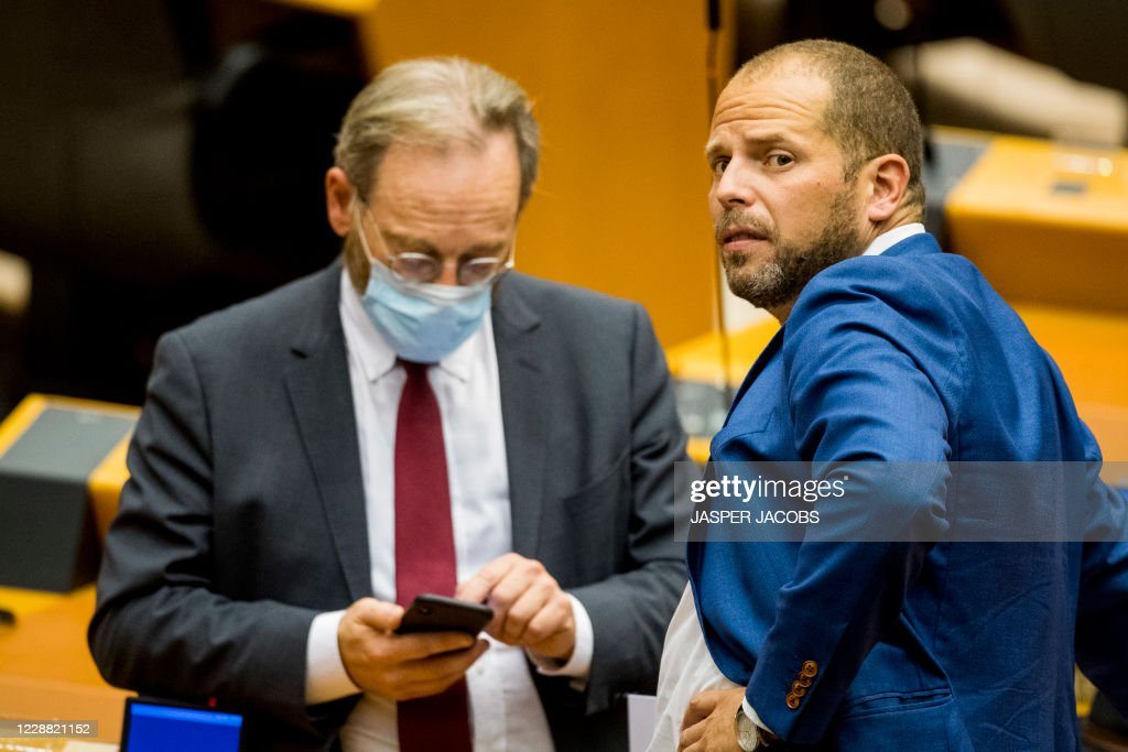 N Va S Peter De Roover And N Va S Theo Francken Pictured Ahead Of A News Photo Getty Images