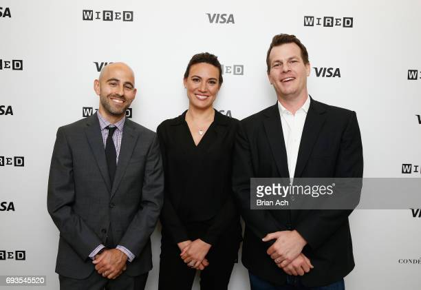 WIRED's Peter Rubin CoCreators and Executive Producers of Westworld Lisa Joy and Jonathan Nolan attend WIRED Business Conference presented by Visa at...