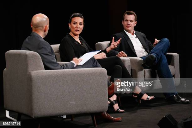 WIRED's Peter Rubin interviews CoCreators and Executive Producers of Westworld Lisa Joy and Jonathan Nolan onstage at WIRED Business Conference...