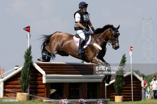 S Phillip Dutton riding Z competes in the equestrian's eventing team and individual cross country during the Tokyo 2020 Olympic Games at the Sea...
