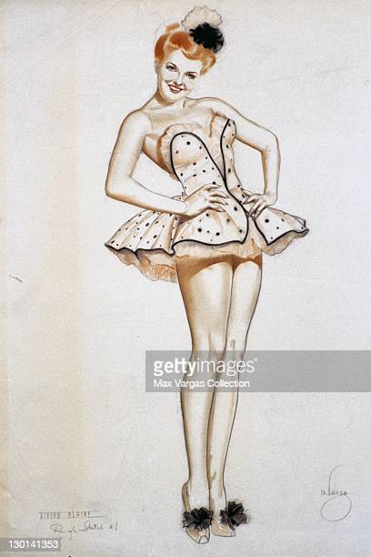 CIRCA 1940's Pinup art by Alberto Vargas of actress Vivian Blaine circa 1940's