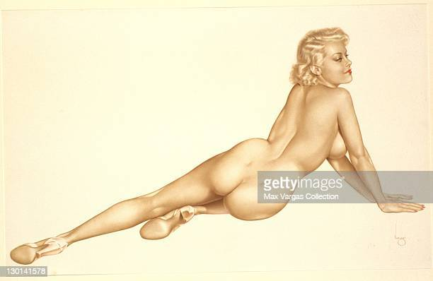 CIRCA 1950's Pinup art by Alberto Vargas titled Big Blonde circa 1950's