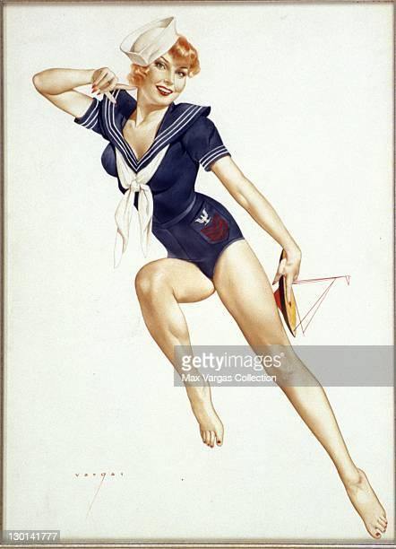 CIRCA 1940's Pinup art by Alberto Vargas titled Sailor Girl circa 1940's