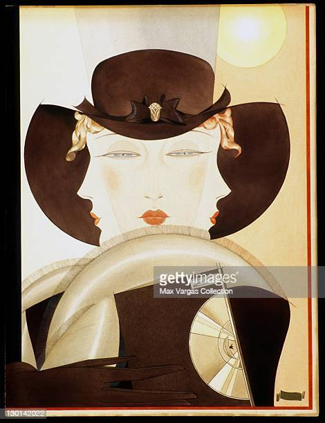 CIRCA 1930's Pinup art by Alberto Vargas titled Three Faces circa 1930's