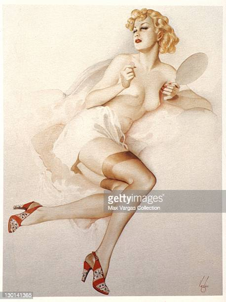 CIRCA 1930's Pinup art sketch by Alberto Vargas circa 1930's