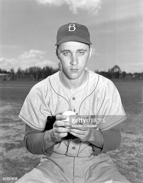 BEACH FL 1950's Pitcher Billy Loes of the Brooklyn Dodgers poses for a portrait during Spring Training circa 1950's in Vero Beach Florida