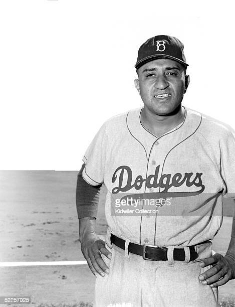 BRONX NY 1950's Pitcher Don Newcombe of the Brooklyn Dodgers poses for a portrait prior to a circa 1950's World Series game against the New York...