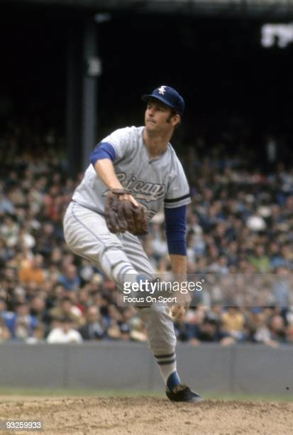 CIRCA 1960's Pitcher Tommy John of the Chicago White Sox pitches during a circa 1960's Major League Baseball game John played for the White Sox from...