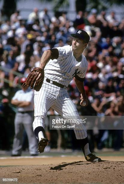 S: Pitcher Tommy John of the New York Yankees pitches during a circa 1980's spring training Major League Baseball game in Fort Lauderdale, Florida....