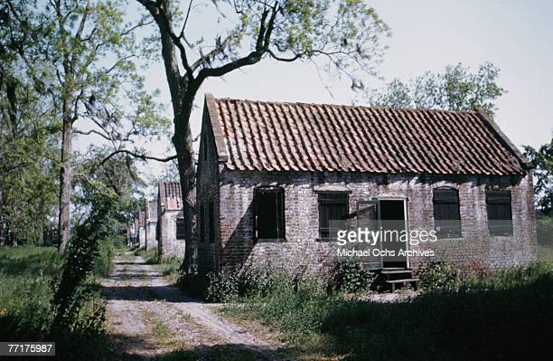 MID 1930's Plantation slave quarters circa mid 1930's in the deep south
