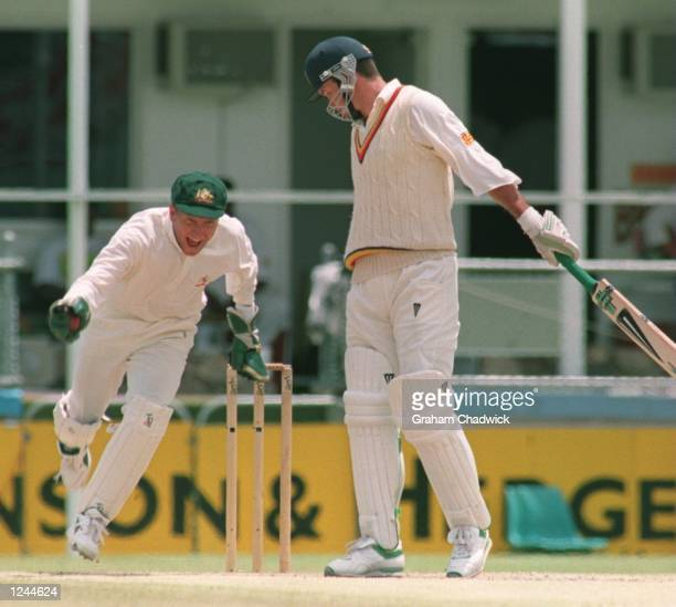 S PLAY IN THE FIRST TEST MATCH AT THE GABBA IN BRISBANE, AUSTRALIA. AUSTRALIA WON THE TEST MATCH BY 184 RUNS WITH BOWLER SHANE WARNE TAKING EIGHT...