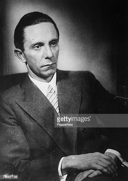 1940's Portrait of German Nazi Propaganda Minister Joseph Goebbels