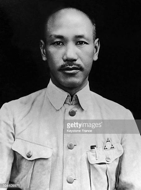 1940's portrait of the Chinese General CHANG KAISHEK President of Nationalist China from 1928 to 1949