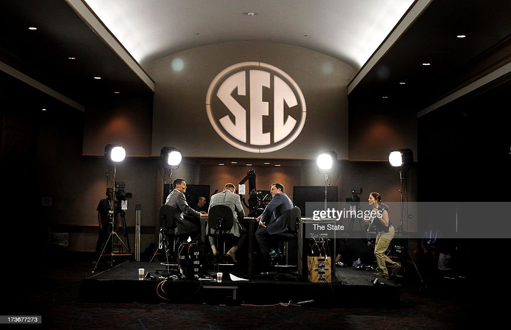 ESPN's presence was strong during SEC football media days in Hoover, Alabama.