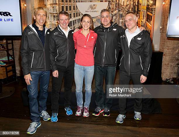 S President, Events and TCS New York City Marathon Race Director Peter Ciaccia, VP Running at New Balance Tom Carleo, New Balance Team Athlete Jenny...