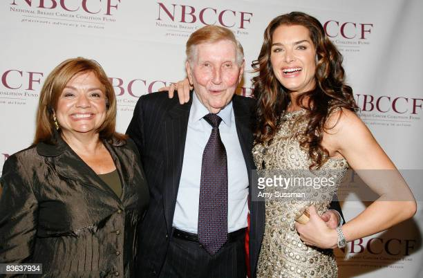 NBCCF's president Fran Visco Viacom Chairman and CEO Sumner Redstone and actress Brooke Shields attend the National Breast Cancer Coalition's annual...