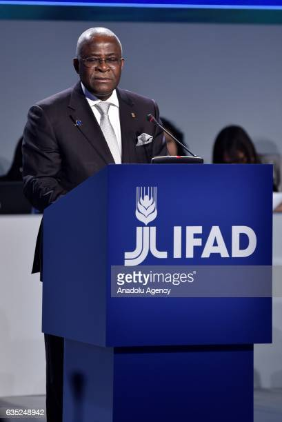 S President Kanayo F. Nwanze delivers a speech during the opening session of International Fund for Agricultural 's 40th Governing Council at IFAD's...