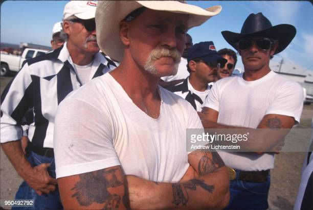 ANGOLA LOUISIANA CIRCA 1990's Prisoners participate in the Louisiana State Prison's annual rodeo which is open to the public during the 1990's at...