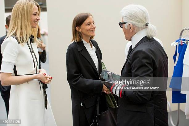 LVMH's prize which reward young fashion creators Delphine Arnault daughter of Bernard Arnault and director of Louis Vuitton is photographed for Paris...