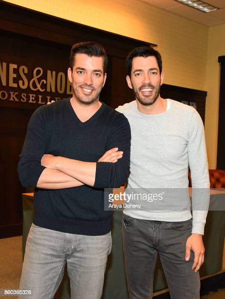 HGTV's 'Property Brothers' Jonathan Scott and Drew Scott Book signing for 'It Takes Two Our Story' at Barnes Noble at The Grove on October 11 2017 in...