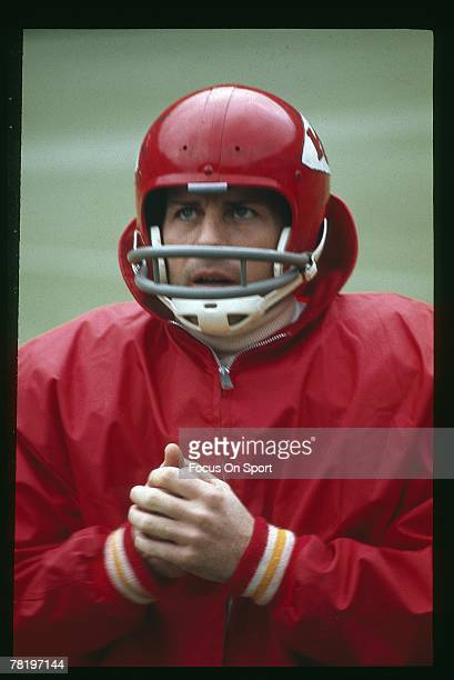 PITTSBURGH PA CIRCA 1970's Quarterback Len Dawson of the Kansas City Chiefs is on the sideline during an early circa 1970's NFL football game at...