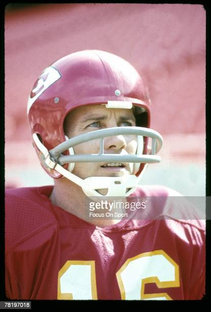 CITY MO CIRCA 1970's Quarterback Len Dawson of the Kansas City Chiefs on the sidelines during a early circa 1970's NFL football game Dawson played...