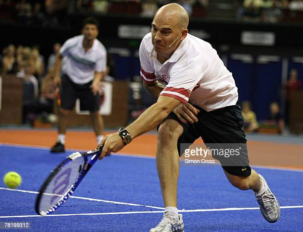 SAFM's Rabbit takes part in the Gerard McCabe Jewellers Celebrity Tennis Challenge at the Adelaide Entertainment Centre on December 1 2007 in...