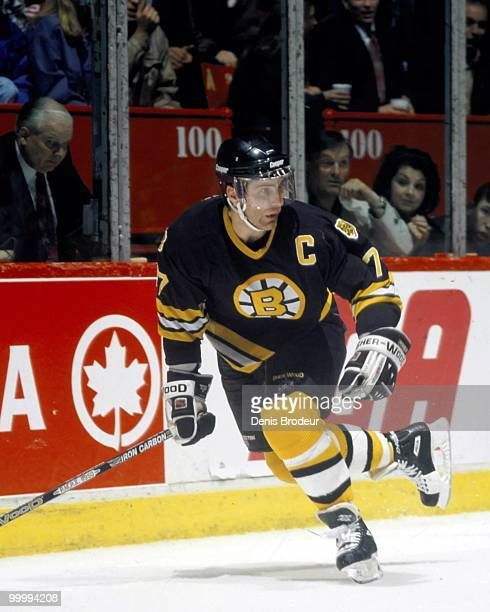 MONTREAL 1980's Raymond Bourque of the Boston Bruins skates against the Montreal Canadiens in the 1980's at the Montreal Forum in Montreal Quebec...
